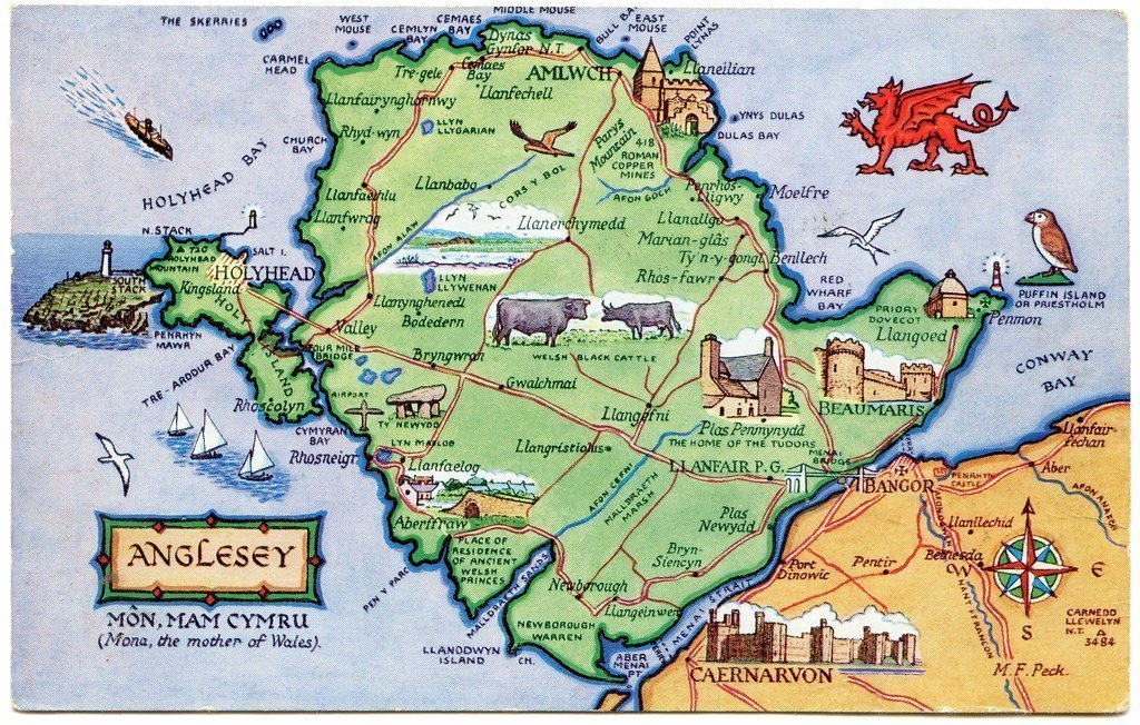 Map of Anglesey