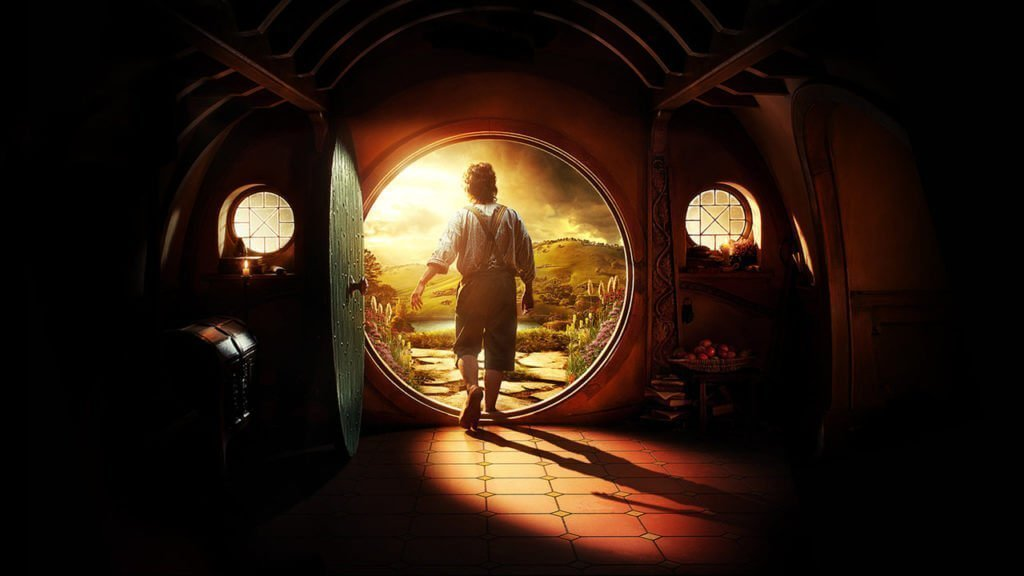 Bilbo Baggins leaves the known world and starts the Hero's Journey