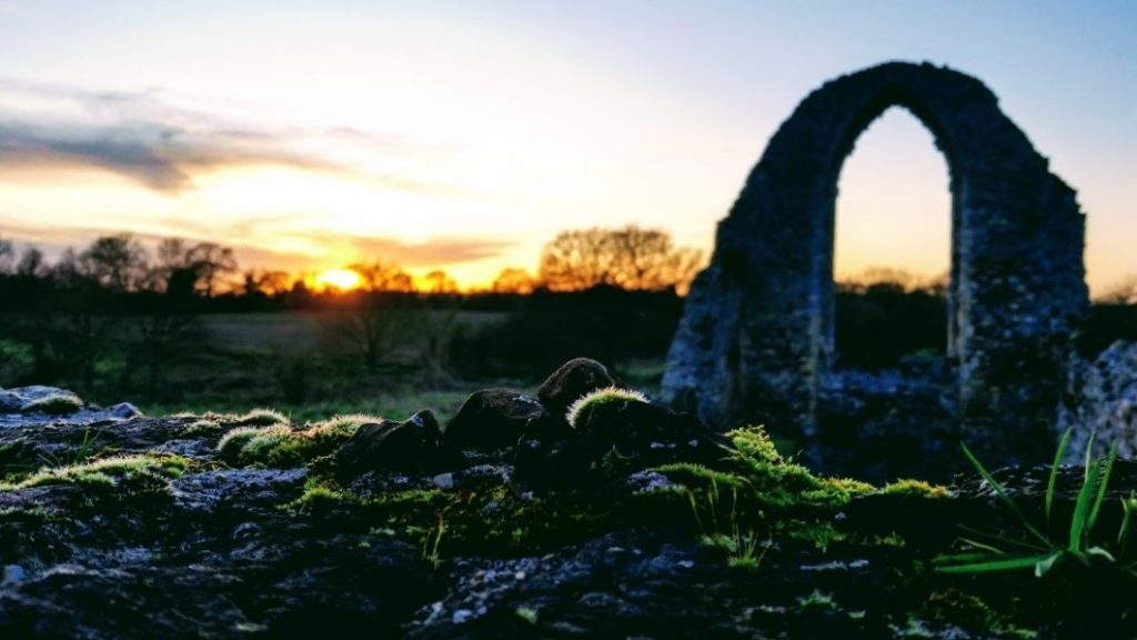 Sunset at Leiston Abbey, Suffolk