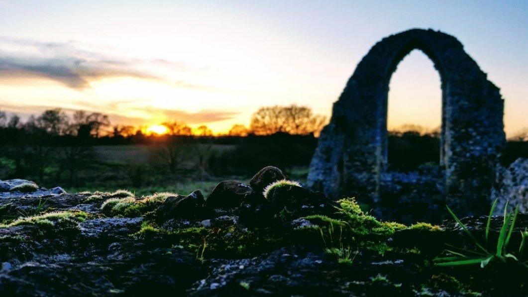 Sunset at Leiston Abbey, Suffolk