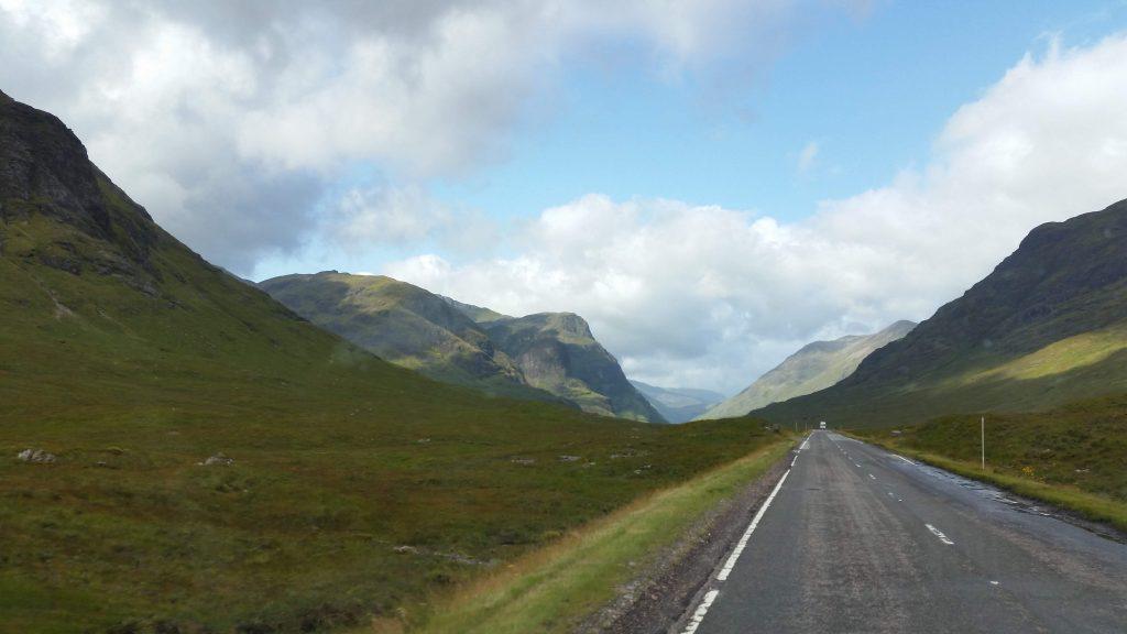 the A82 to Glencoe, Scotland