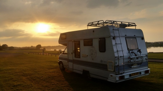 VW T4 motorhome at Alton Water, Suffolk