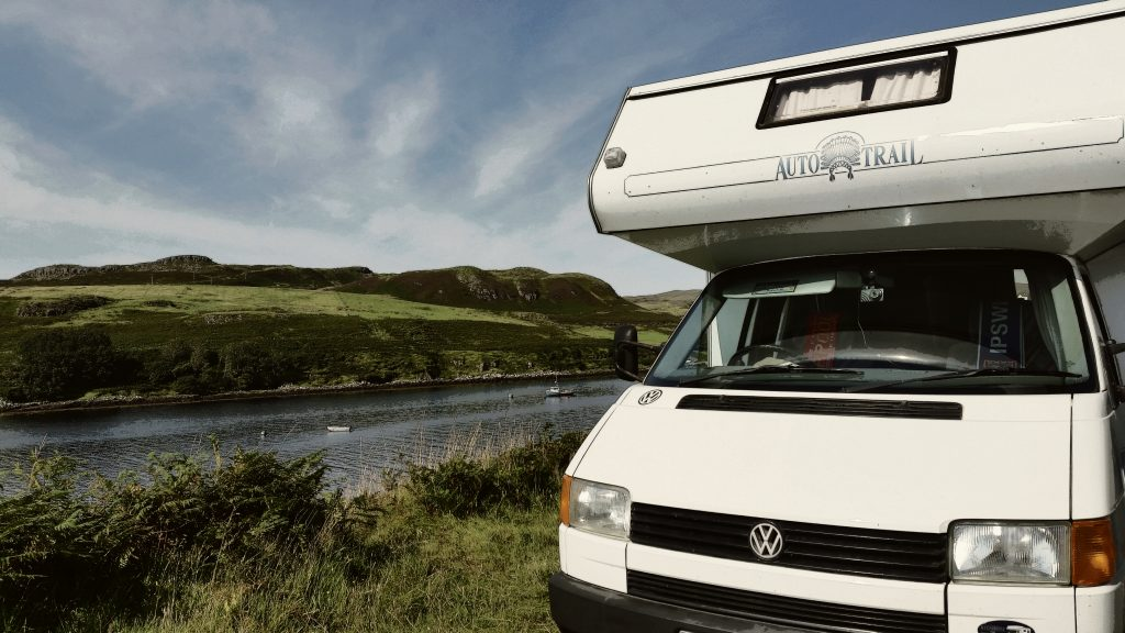 VW T4 motorhome on the Isle of Skye