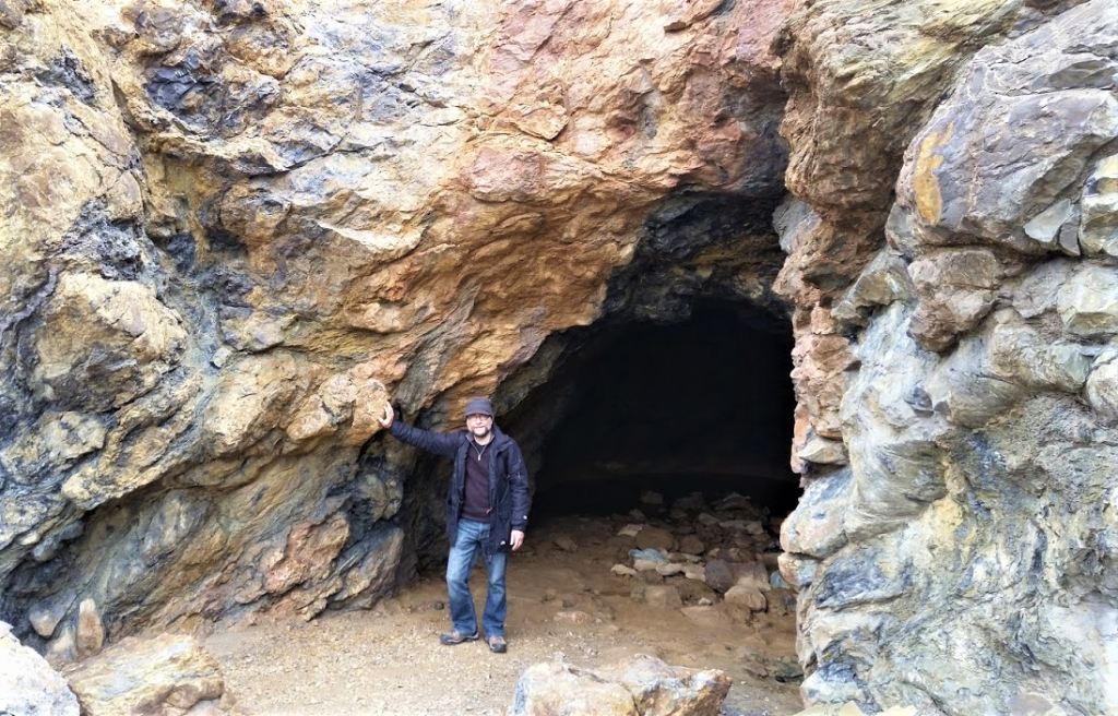 Cave at Parys Mountain on Anglesey