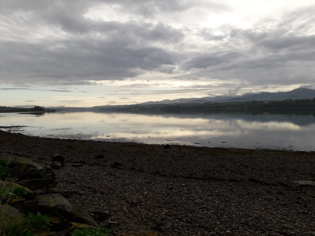 Wildcamping breakfast by the Menai Strait, Wales