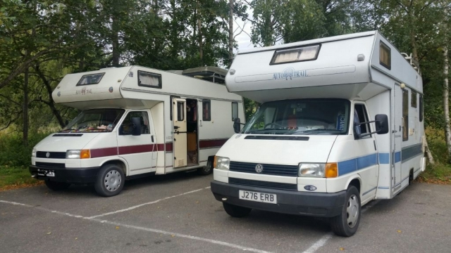 Two VW T4 motorhomes
