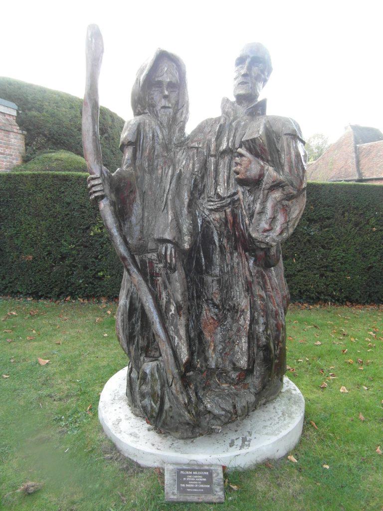 wooden Canterbury pilgrims