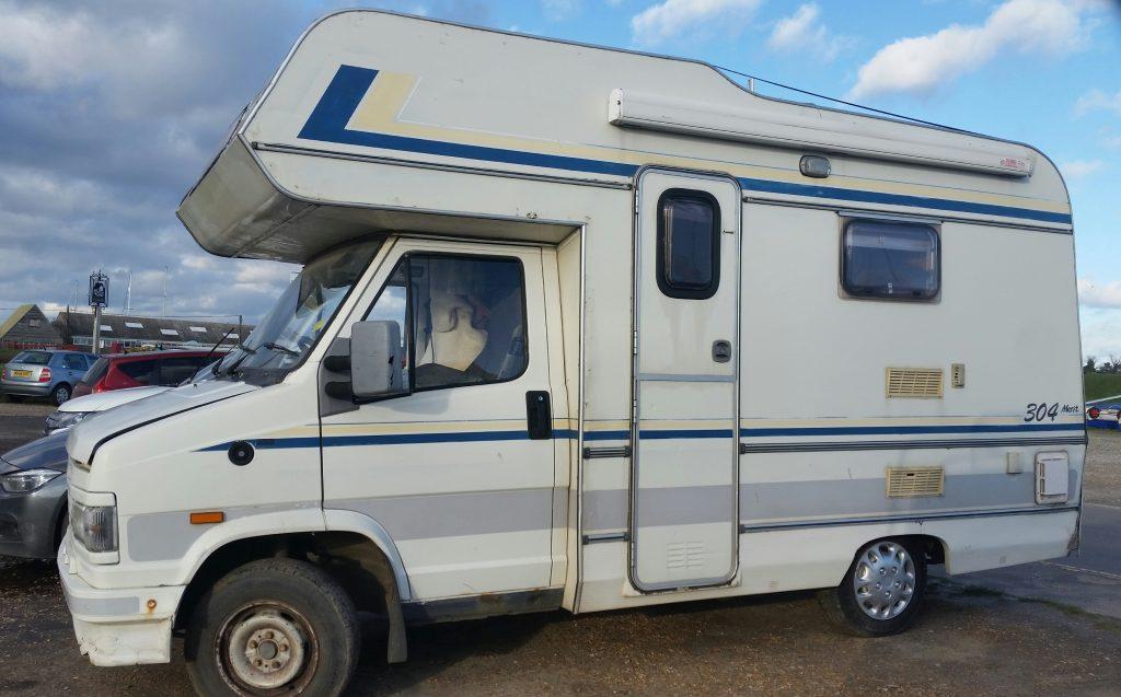 Talbot campervan at Felixstowe