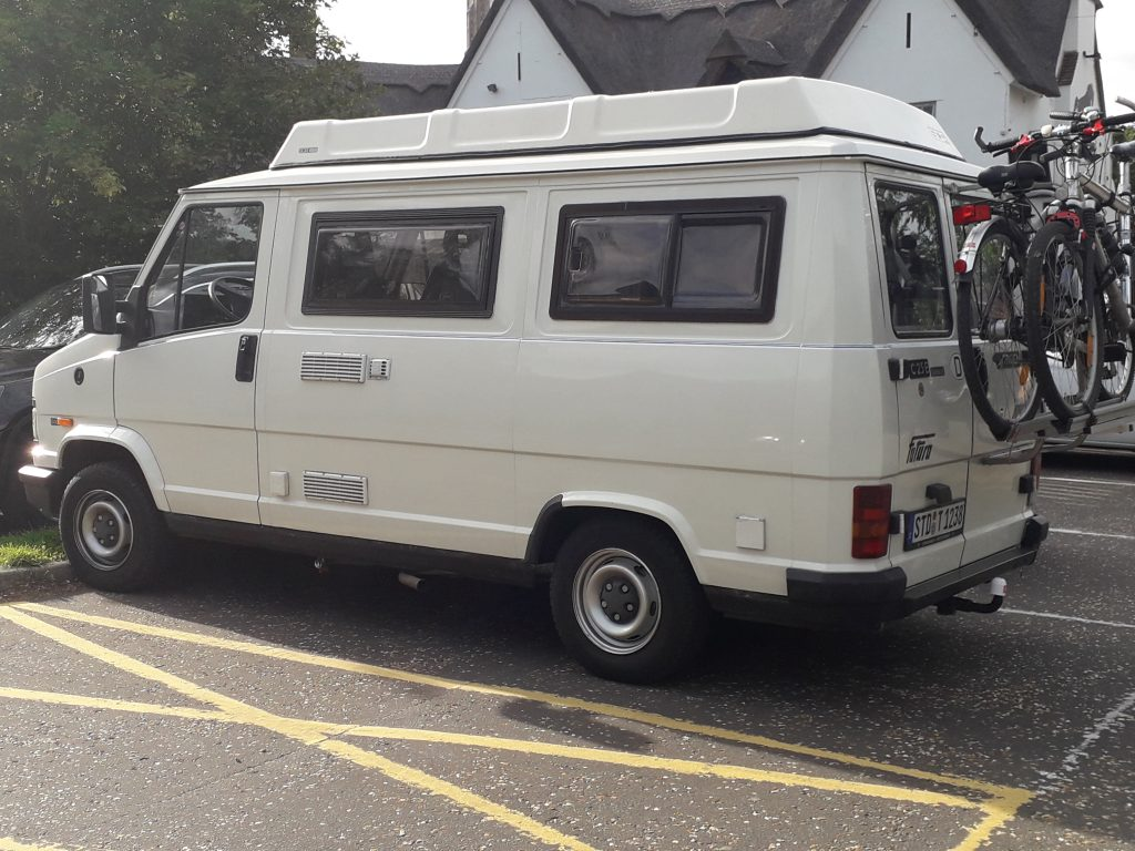 Talbot campervan at Lavenham