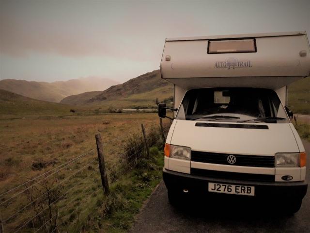 VW T4 motorhome in Snowdonia