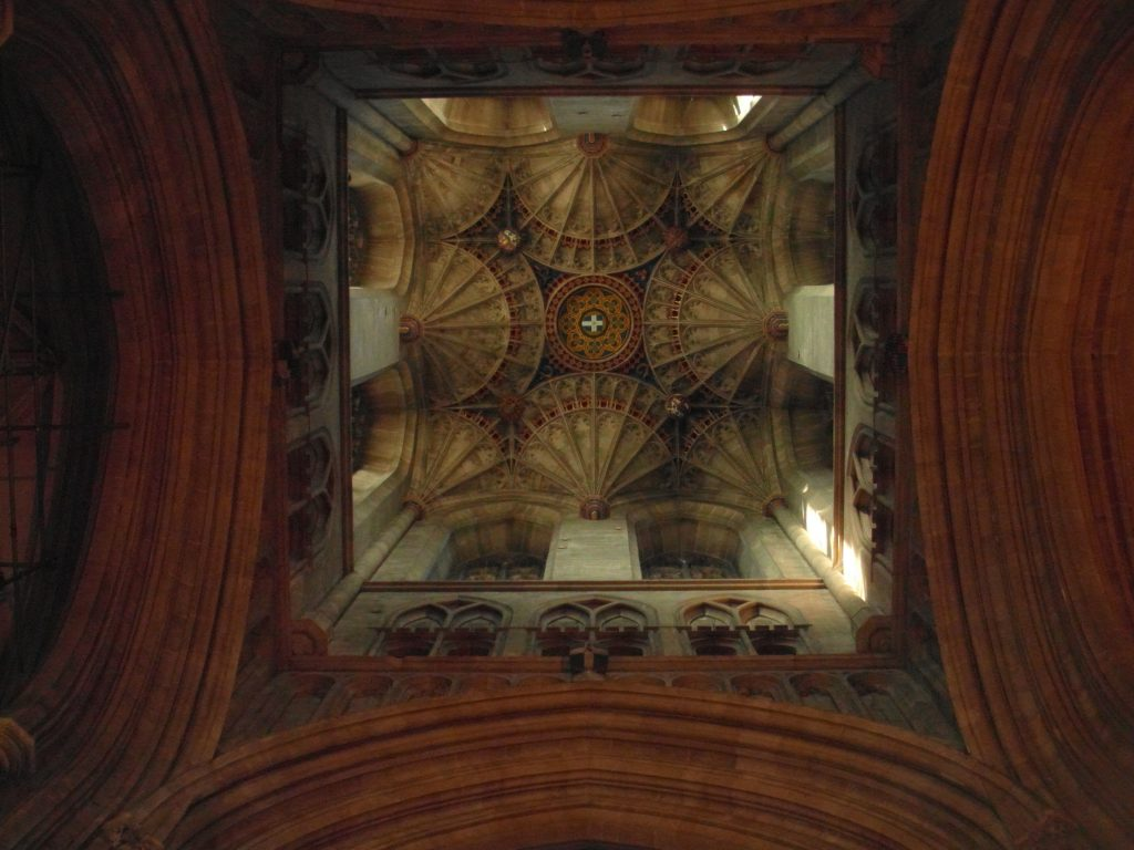 Ceiling inside Canterbury Cathedral, Kent