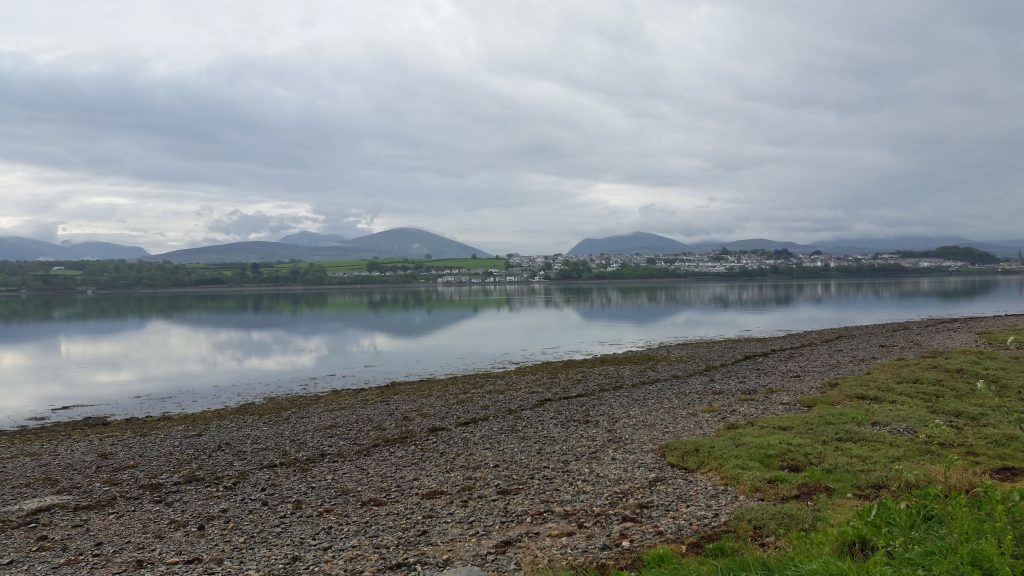 Menai Strait, looking towards Wales mainland and Snowdonia