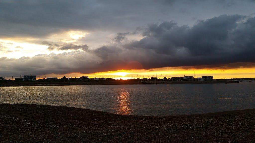 sunset over Felixstowe Ferry