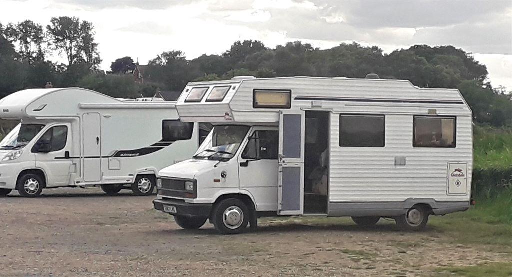 Vintage Fiat campervan