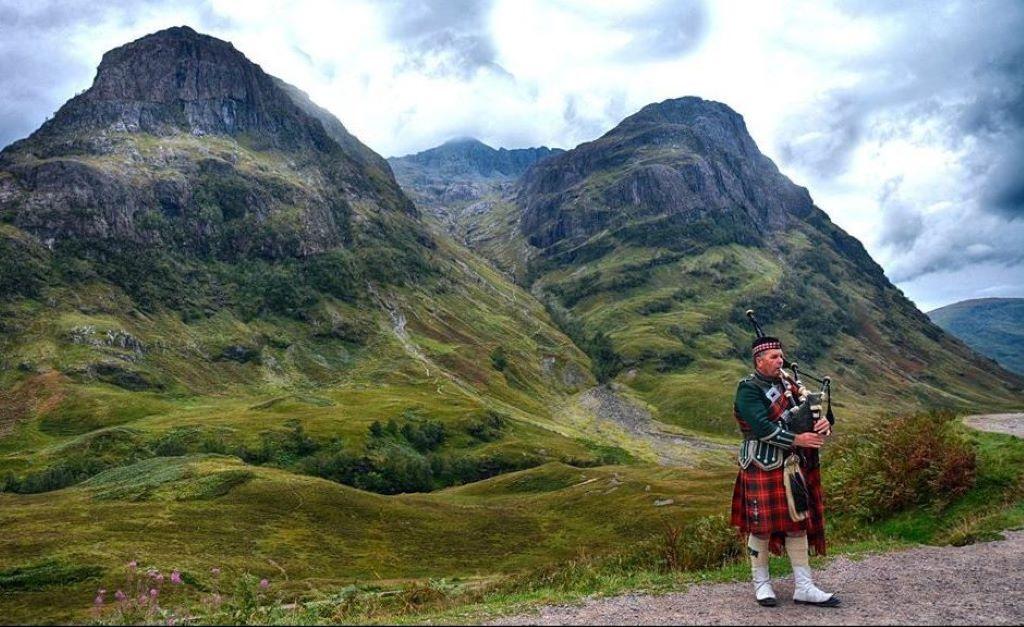 piper in glencoe, scotland