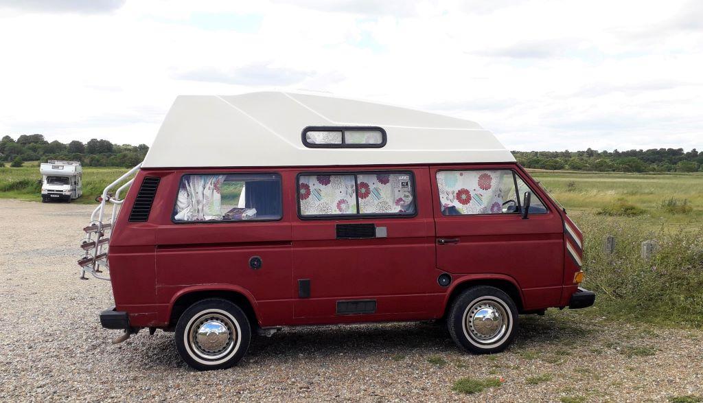 Vintage T3 VW campervan