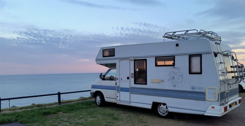 VW Cree motorhome at Old Felixstowe