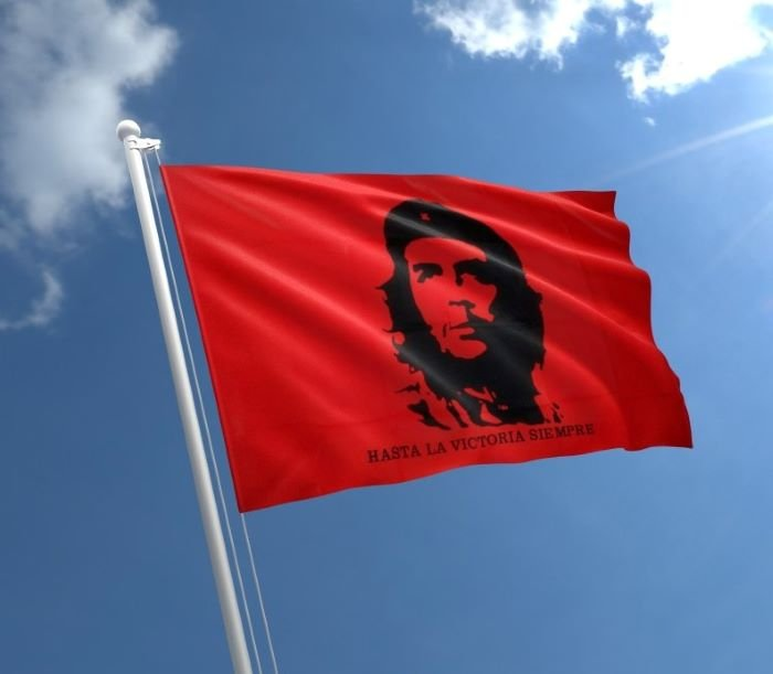 Che Guevara on red flag