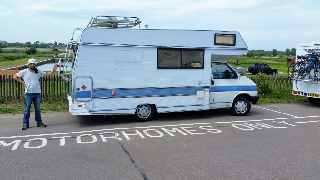 VW T4 motorhome parked at Southwold in Suffolk