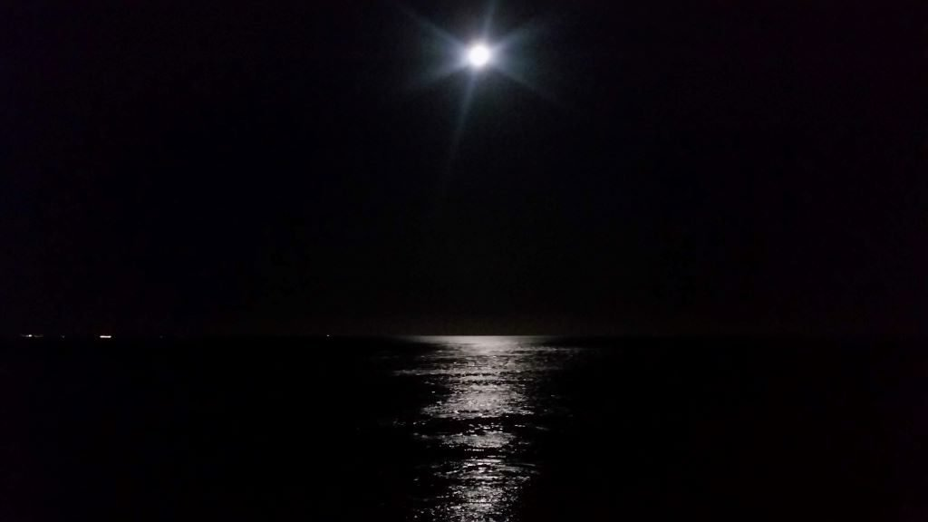 under the stars - full moon at Bawdsey, Suffolk