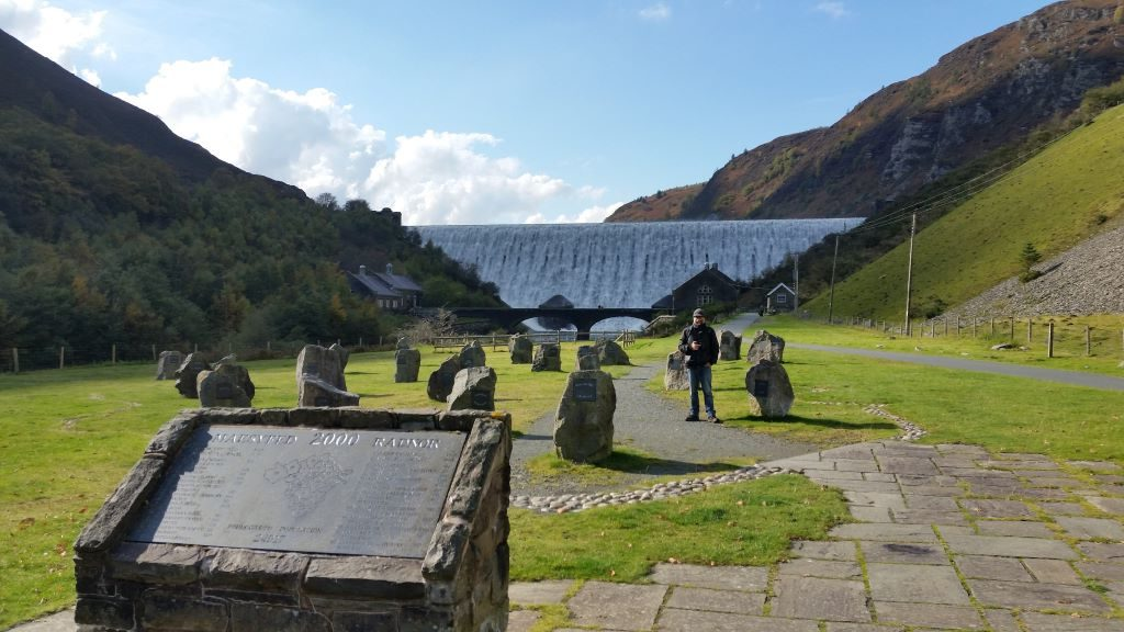 the 27 lost villages in the Elan Valley, represented by standing stones at the Elan Valley visitor centre