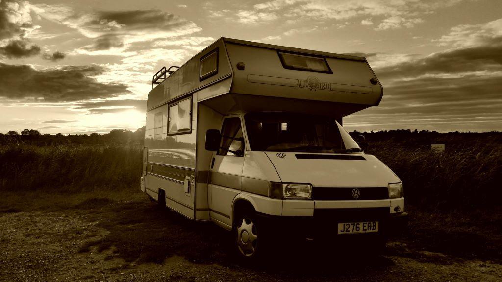 VW campervan in Suffolk