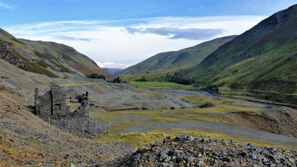 the old metal mines at Cwmystwyth near the Elan Valley