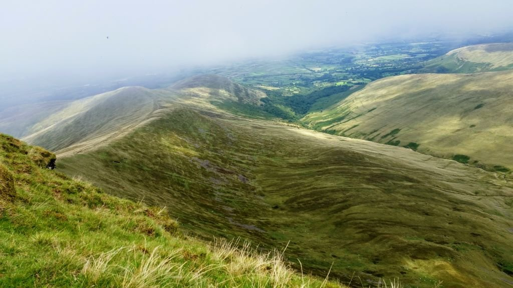 view from Pen Y Fan in the Brecon Beacons National Park