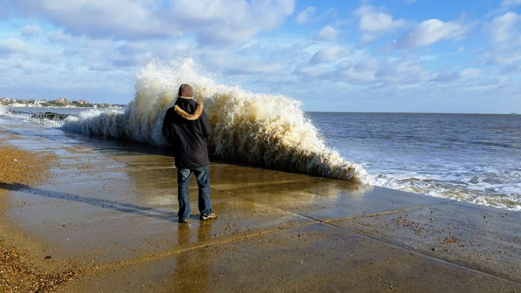 Spring high tides, Felixstowe, Suffolk