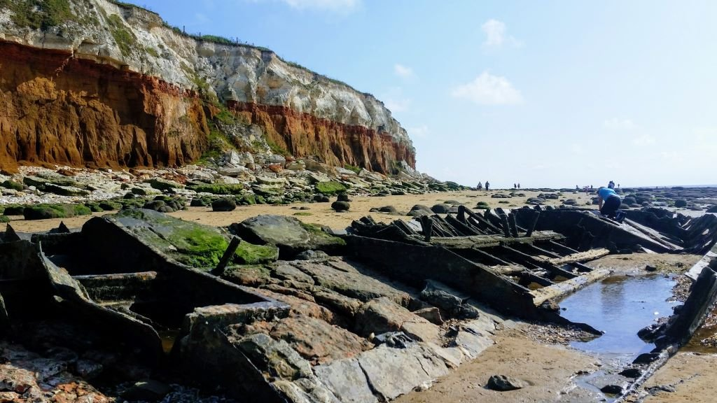 the Jurassic cliffs at Hunstanton, North Norfolk Coast
