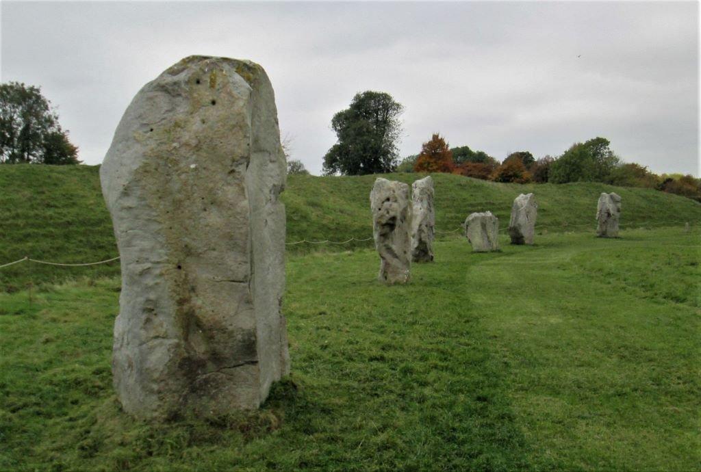 Part of the ancient stone circle at Avebury