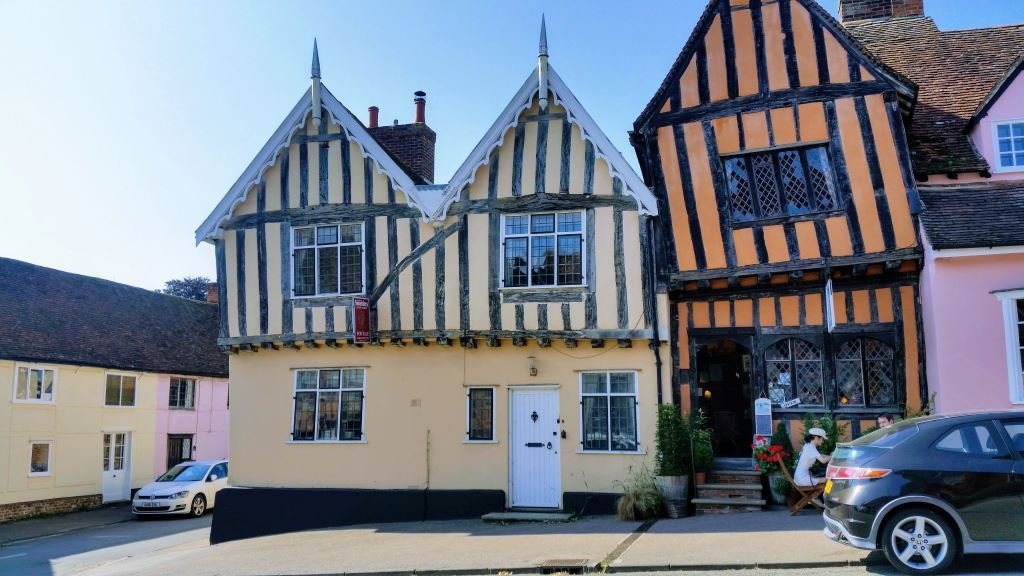 the crooked house at Lavenham, Suffolk