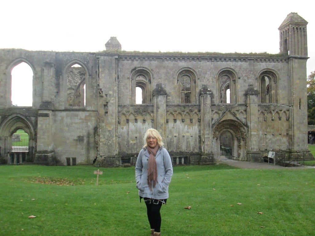 Hobo Trudi at Glastonbury Abbey