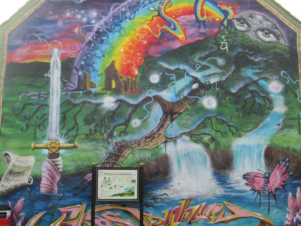 Wall mural in Glastonbury