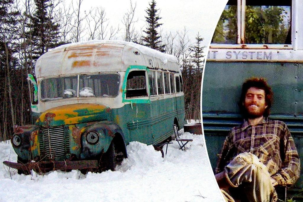 Chris McCandless' bus - the number 142 - on the Stampede Trail, Alaska