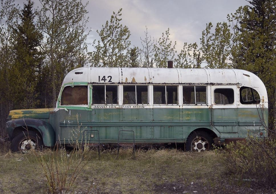 Into the Wild bus - a vintage International Harvester bus from the 1940s