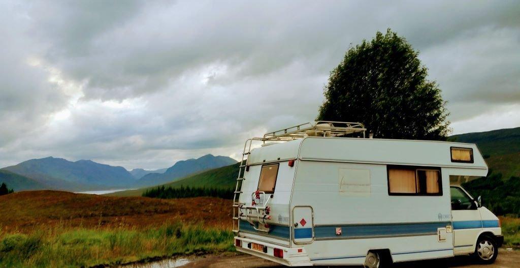 Our VW Cree near Loch Loyne on the A87