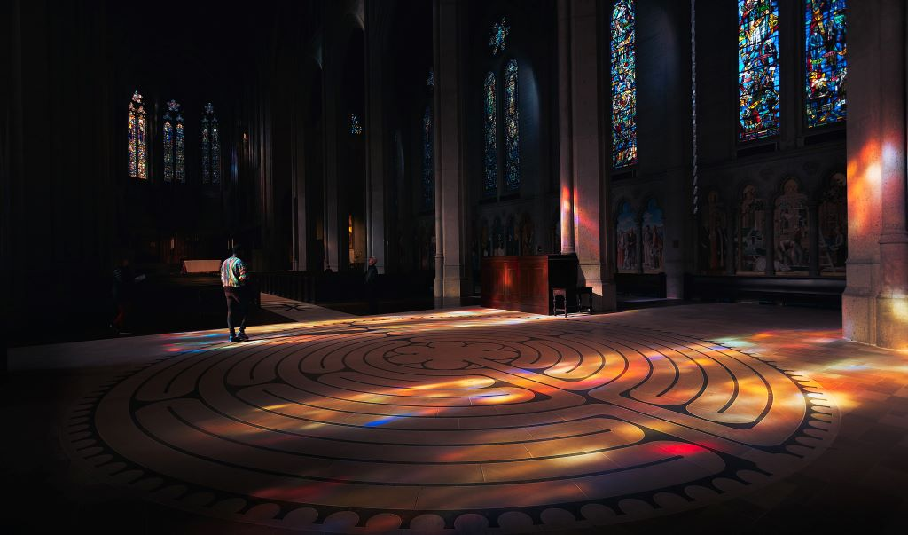 The labyrinth, at Chartres Cathedral in France