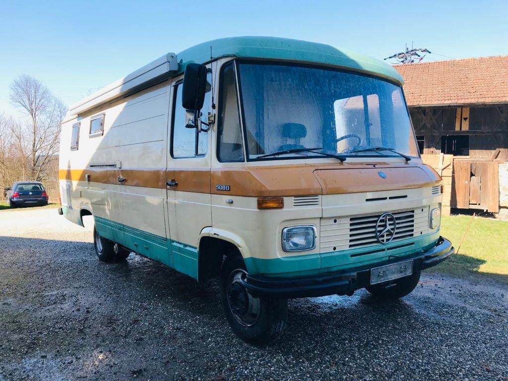 Mercedes 508D vintage campervan