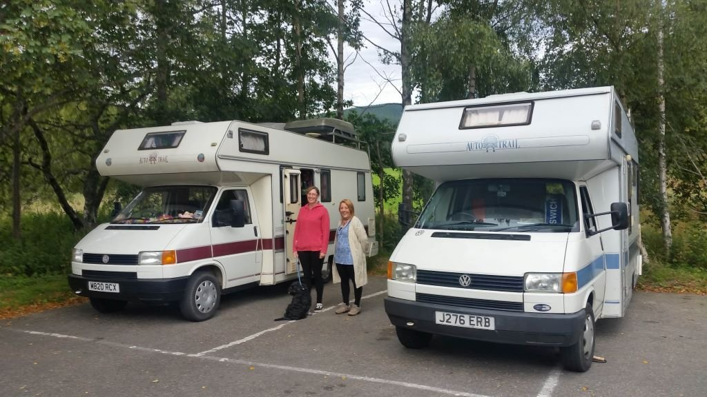 2 VW motorhomes from the 1990s, part of Autotrail's history