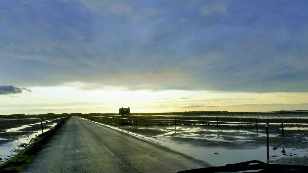 The Causeway to the holy island of Lindisfarne, Northumberland