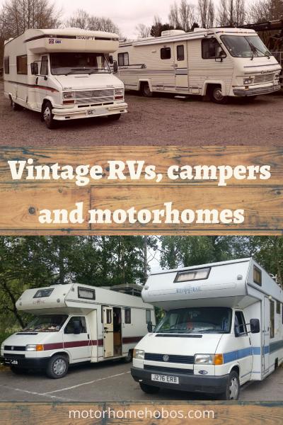Vintage vans and motorhomes